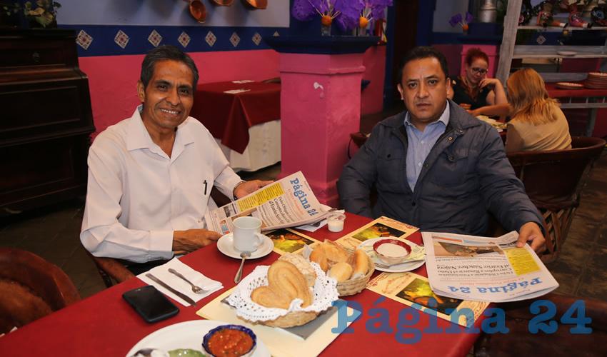 En La Saturnina compartieron el pan y la sal Raúl González Reyes y Víctor Manuel García López