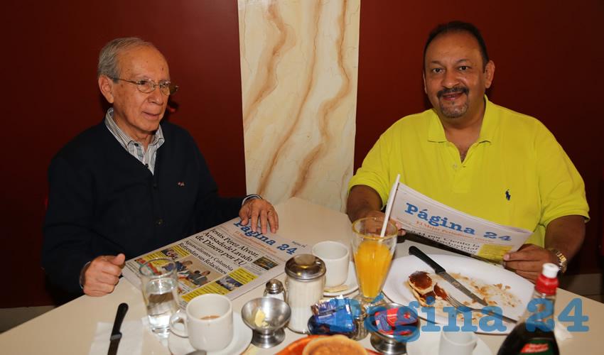 Desayunaron en el restaurante Mitla, Manuel Saldívar Medina y Rafael Valdés Ortiz