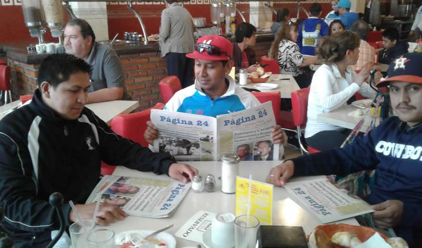 Marco García, José Manuel Murillo y Luis Manuel Núñez almorzaron en el restaurante Mitla