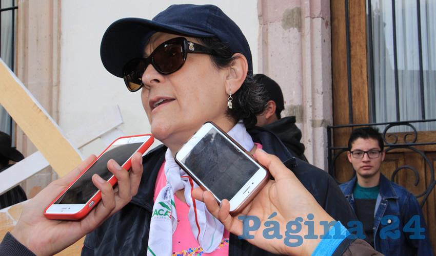 Gema Mercado Sánchez, titular de la Secretaría de Educación (Seduzac) (Foto: Rocío Castro Alvarado