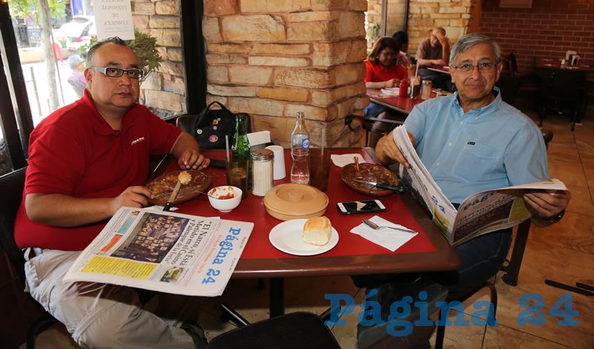 En Las Antorchas almorzaron Luis Silva Arriaga y Rafael López Montes de Oca