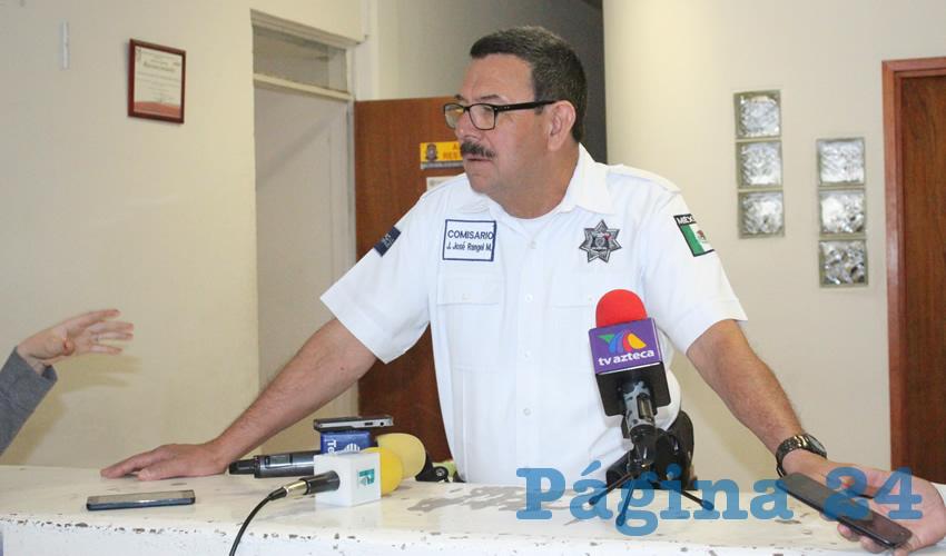 Juan José Rangel Martínez, director de Seguridad Pública Municipal, insistió en que no se puede mezclar el hecho con el Festival Cultural Zacatecas 2018, porque a esas horas no había actividades en lo que a eso respecta. (Foto: Merari Martínez Castro)