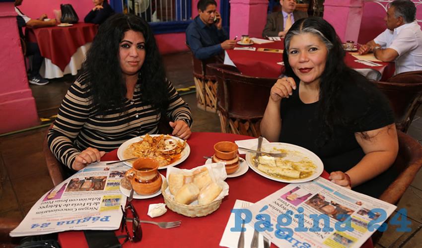 En La Saturnina Almorzaron Sandra López González y Mayra Trujillo de la Riva