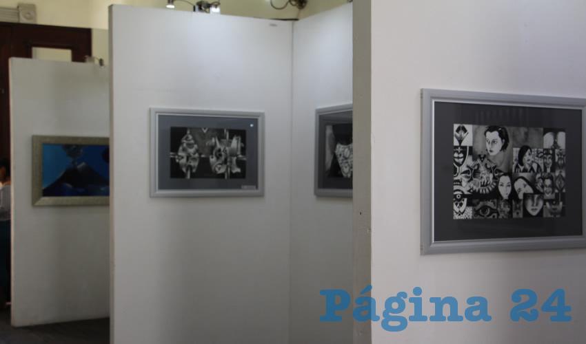 Las obras que conforman esta exposición constan de grabado, pintura y dibujo, con las que los artistas, dirigidos por Catarino del Hoyo, transforman pensamientos en arte y paz. (Foto: Rocío Castro)
