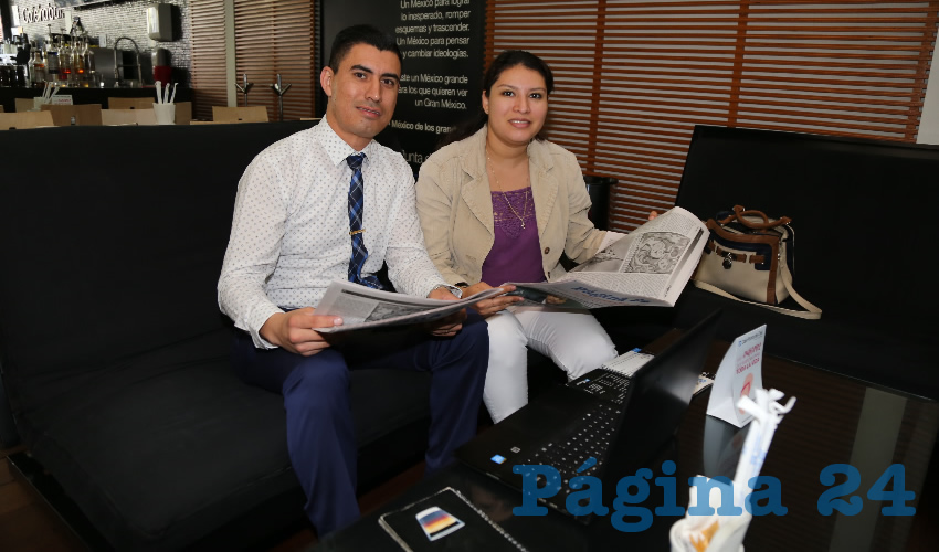 En Café Punta del Cielo departieron Óscar Alejandro Donato Ruiz y Dalia Melisa Ávila Escobar