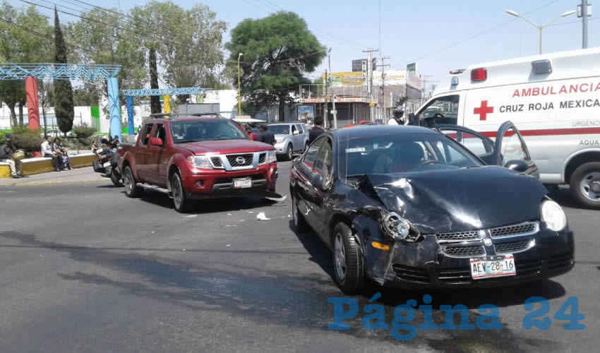 El encontronazo ocurrió en el cruce de las avenidas Ayuntamiento y Convención sur