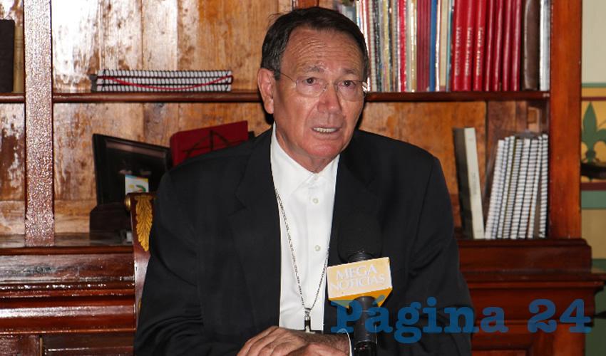Obispo Sigifredo Noriega Barceló: Delicado que delincuentes asesinen gente al interior de las viviendas (Foto Rocío Castro Alvarado)