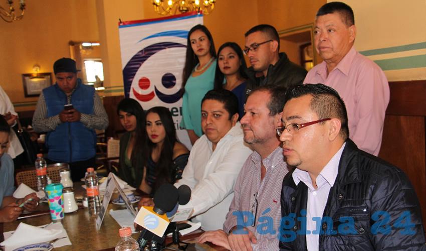 Nicolás Castañeda Tejeda, presidente del Partido Encuentro Social (PES) señaló la incorporación a esta institución política de jóvenes procedentes del Partido Verde Ecologista de México (PVEM) (Foto Rocío Castro Alvarado)