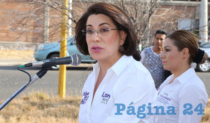 Lorena Martínez Rodríguez, candidata del PRI al Senado de la República (Foto: Eddylberto Luévano Santillán)