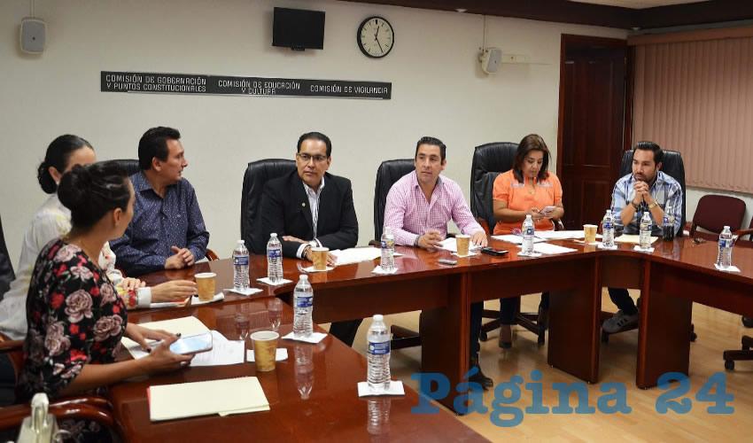 Comisiones de Gobernación y Puntos Constitucionales, de Educación y Cultura, y de Vigilancia