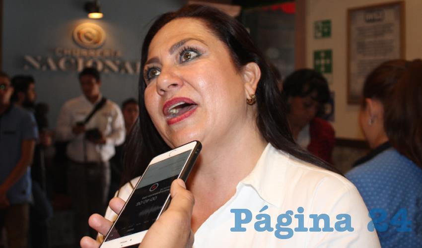 """Mónica Borrego Estrada, diputada local con licencia por Morena. """"Definitivamente no tienen estrategia, y nada más son ocurrencias lo que están haciendo, por eso no se puede erradicar. Se tiene que hacer el trabajo de inteligencia para desintegrar las bandas. No con balazos, ni como lo han propuesto, porque han fallado"""". (Foto: Merari Martínez Castro)"""