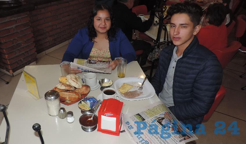 María Fernanda García y Ulises Briones compartieron el pan y la sal en el restaurante Mitla