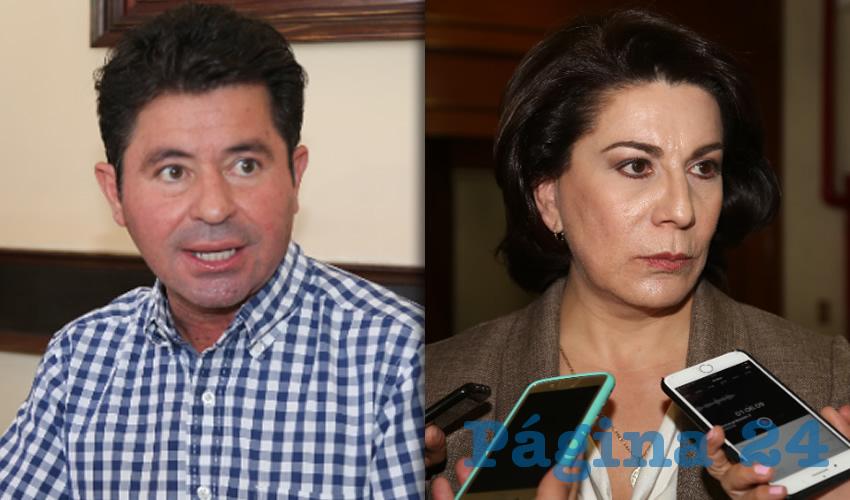 Jorge López Martín, diputado federal | Lorena Martínez Rodríguez, candidata al Senado de la República
