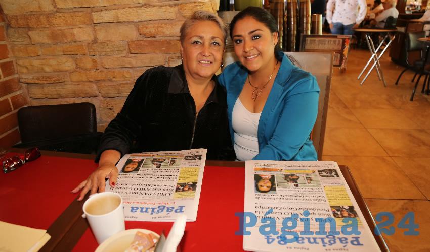 En Las Antorchas almorzaron Manuela Hernández Martínez y Vanessa Zavala Hernández