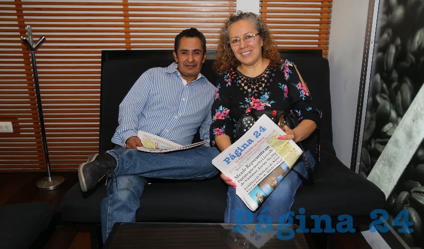 En Café Punta del Cielo departieron Rubén Parga Guzmán y Perla González Cardona
