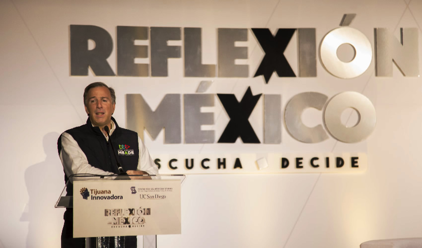 """""""Muro de Trump Ofende a Mexicanos"""",  Señala Meade en Playas de Tijuana"""