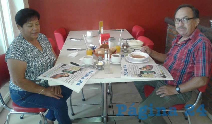 Rita Gómez y Antonio Reyes compartieron el pan y la sal en el restaurante Mitla