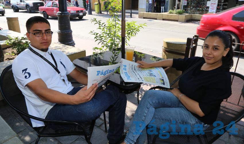 En Las Antorchas compartieron el pan y la sal Gustavo Flores Rivera y Andrea Gómez Pérez