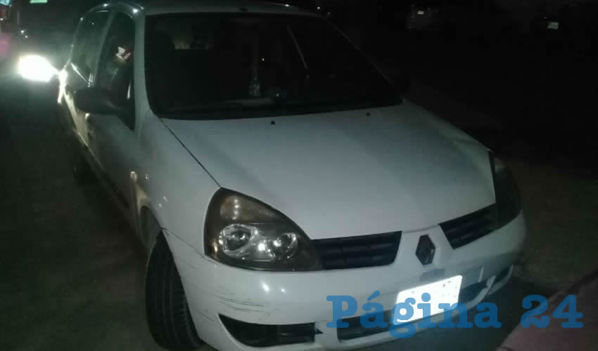 El vehículo que conducía Alejandro Zuazua