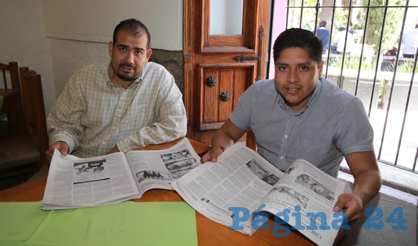 En La Mestiza almorzaron Erick Velázquez Landeros e Iván García García