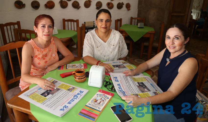 Silvia López Ruiz, Claudia Díaz Montes y Adriana Rubalcaba Orozco compartieron el pan y la sal en La Mestiza