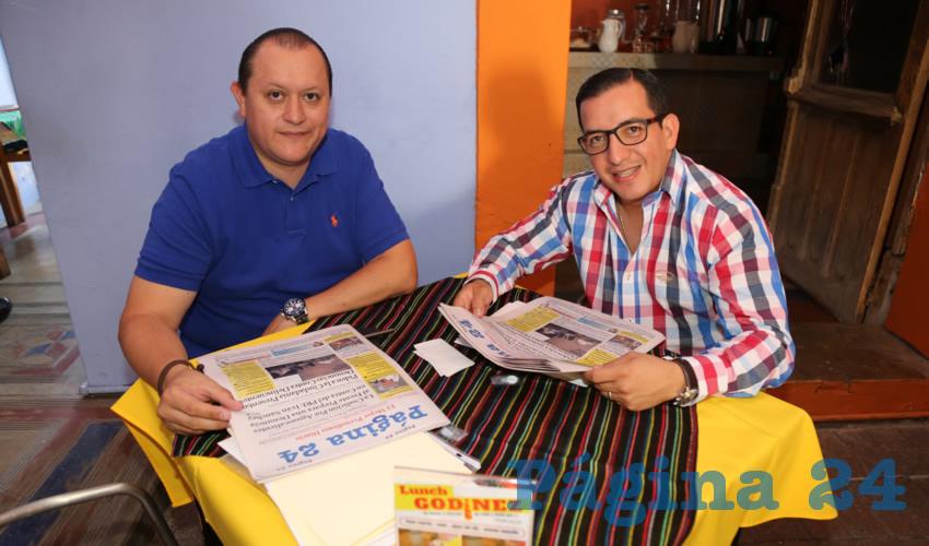 En el Mercadito Gastronómico Colón desayunaron Edilberto Márquez Ojeda y Salvador Maximiliano Ramírez Hernández