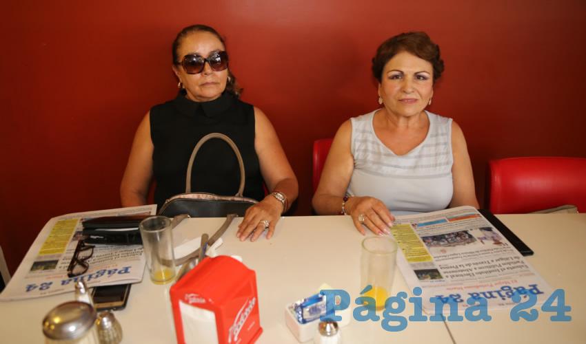 En el restaurante Mitla compartieron el pan y la sal Gloria Zacarías Hernández y Evelia Zamora Hernández