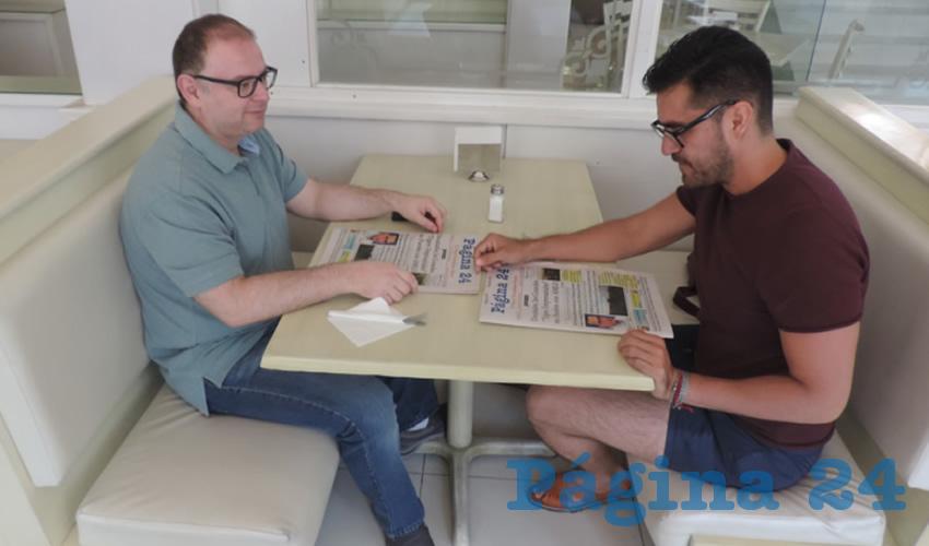 Alfredo Martínez Padilla y Rogelio Díaz Alonso almorzaron en el restaurante Del Centro