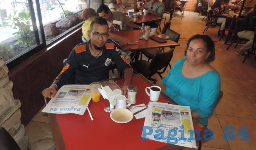 David Méndez Delgado y Gabriela Delgado Martínez almorzaron en el restaurante Las Antorchas