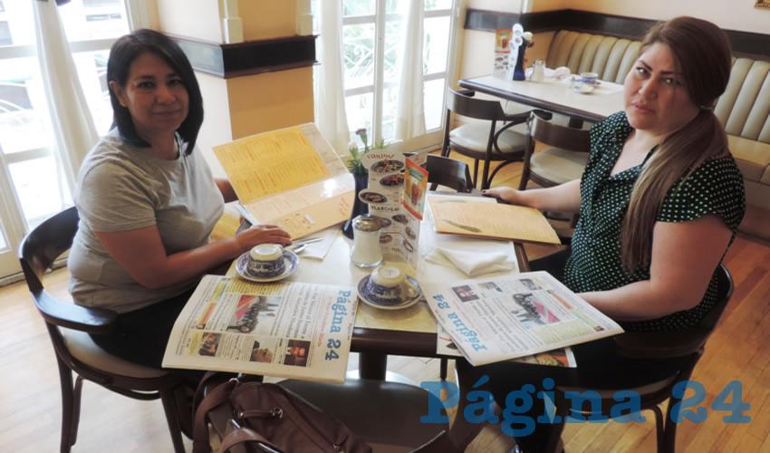 Alma Sifuentes Equihua y Maciel López almorzaron en el restaurante de Sanborns