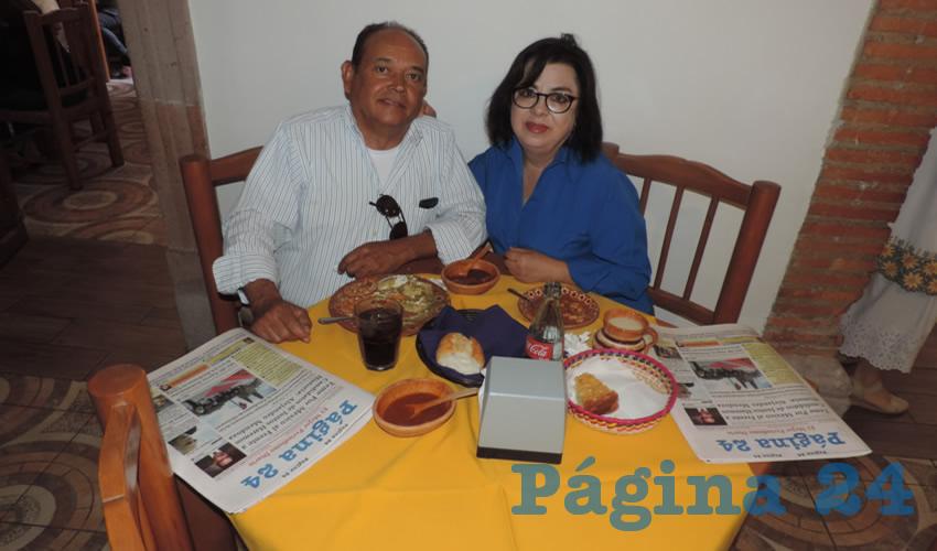 En el restaurante La Mestiza compartieron el pan y la sal Guillermo Malo Muñoz y Quica Puga Ruiz