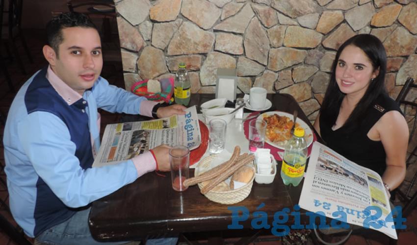En el restaurante El Campirano almorzaron Alfonso Valdivia y Ana Lucía Valdez