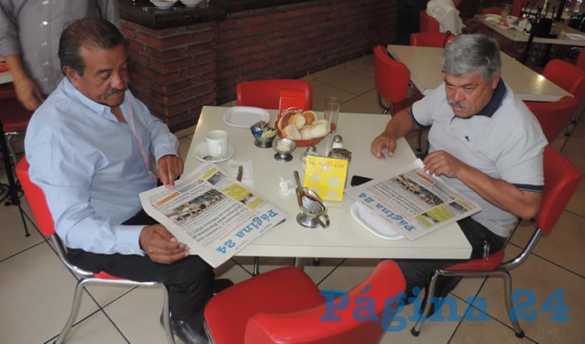En el restaurante Mitla desayunaron Felipe Acosta y Francisco Solórzano Gutiérrez