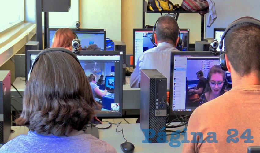 Los alumnos, los docentes y administrativos podrán ingresar en los laboratorios para la enseñanza del idioma, así como a clubes de conversación y plataformas interactivas