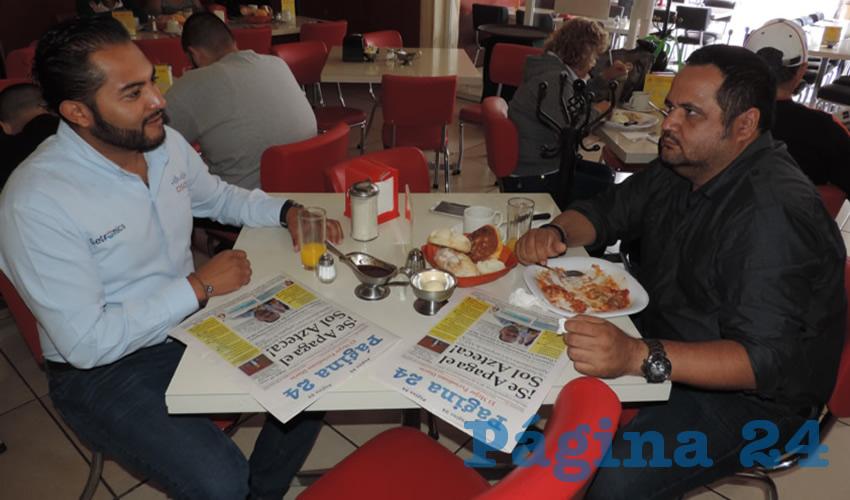 Omar Contreras y Cristian González compartieron el pan y la sal en el restaurante Mitla