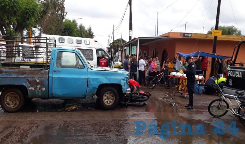 Tras la colisión, el motociclista fue hospitalizado