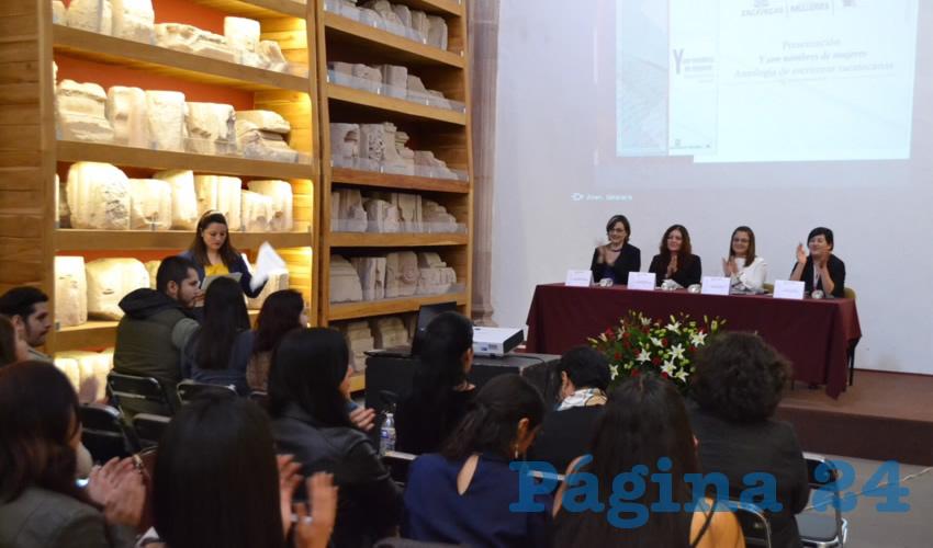 La Secretaria de las Mujeres dijo que el libro promueve la cultura de igualdad e impulsa el talento de las escritoras de la entidad