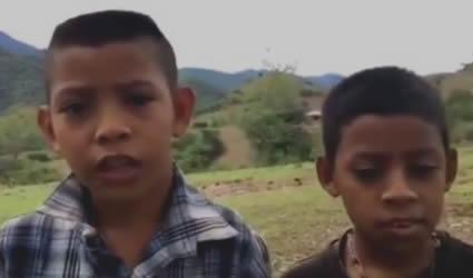 Niños de Guerrero le Piden a López Obrador no se Olvide sus Familias