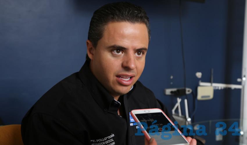 """Jaime """"El Pollo"""" Durán Padilla, lider de Movimiento Ciudadano en Aguascalientes"""