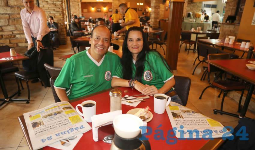 En Las Antorchas almorzaron Ricardo Casarrubias Magallanes y Martha Lucía Salazar Ramírez