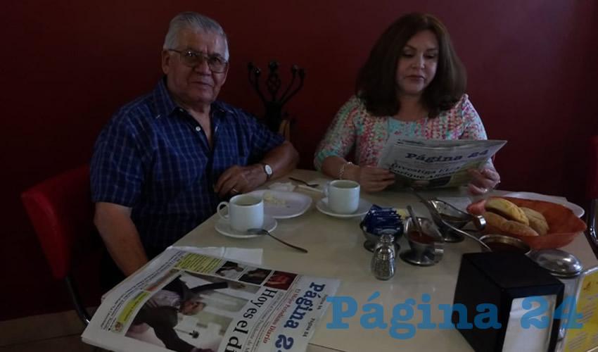 Jesús Muñoz y Celina González compartieron el pan y la sal en el restaurante Mitla