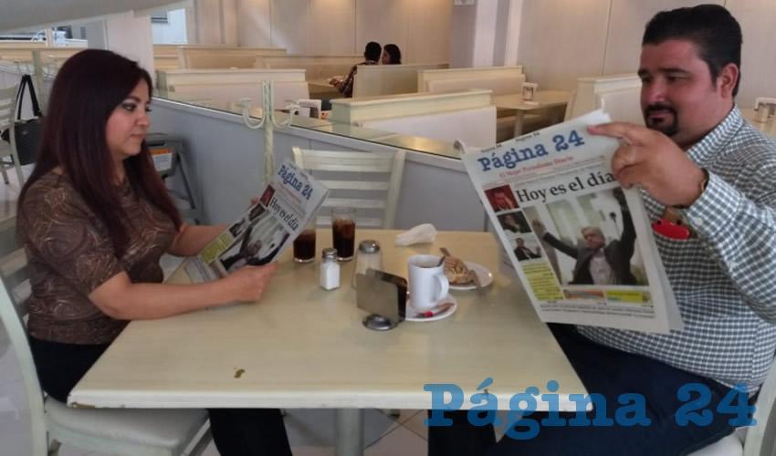 En el restaurante Del Centro almorzaron Angélica González y Fabián Ruvalcaba