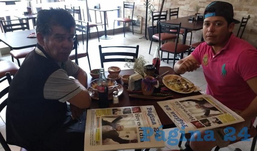 Jaime Chávez Muñoz y Jesús Mancillas desayunaron en el restaurante La Madero