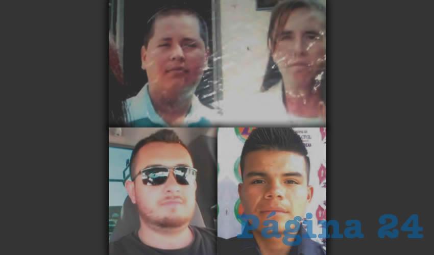 Cuatro desaparecido más: Adriel Sandoval, su mamá Virginia Ramírez; los paramédicos David Vallín Figueroa y Luis Eduardo Rodríguez de la Cruz