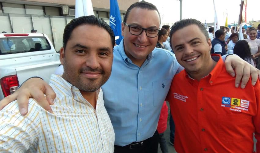 Emanuelle Sánchez Nájera, Paulo Martínez y Jaime Durán Padilla