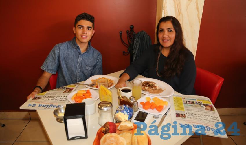 En el restaurante Mitla compartieron el pan y la sal Aldo Fabián Zamora Sánchez y Evelyn Sánchez Velázquez