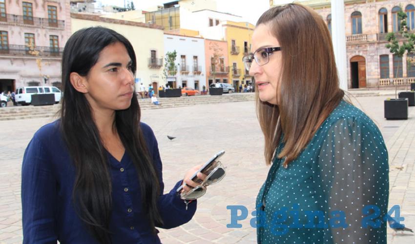Adriana Rivero Garza, titular de la Secretaria de las Mujeres (Foto Rocío Castro)
