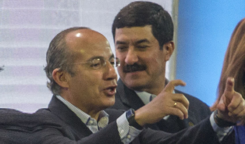 Felipe Calderón y Javier Corral (Foto: Isaac Esquivel/Cuartoscuro)