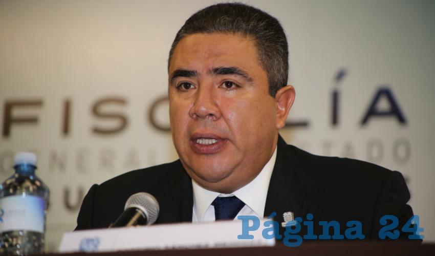 Porfirio Javier Sánchez Mendoza, secretario de Seguridad Pública Estatal (Foto: Eddylberto Luévano Santillán)