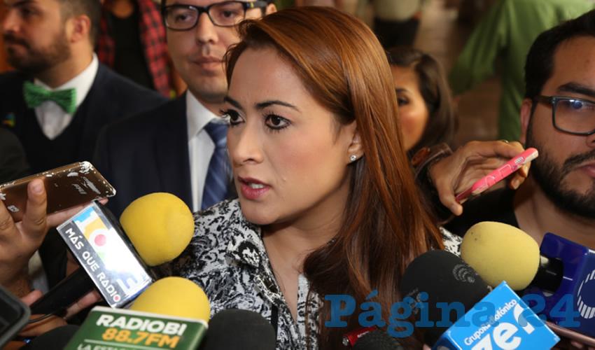 Tere Jiménez Esquivel, presidenta municipal (Foto: Eddylberto Luévano Santillán)